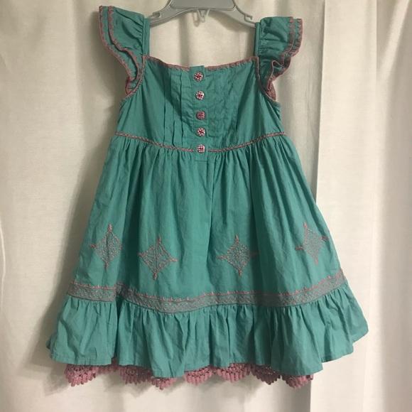 Matilda Jane Other - Matilda Jane Teal and Pink Dress, Size 2